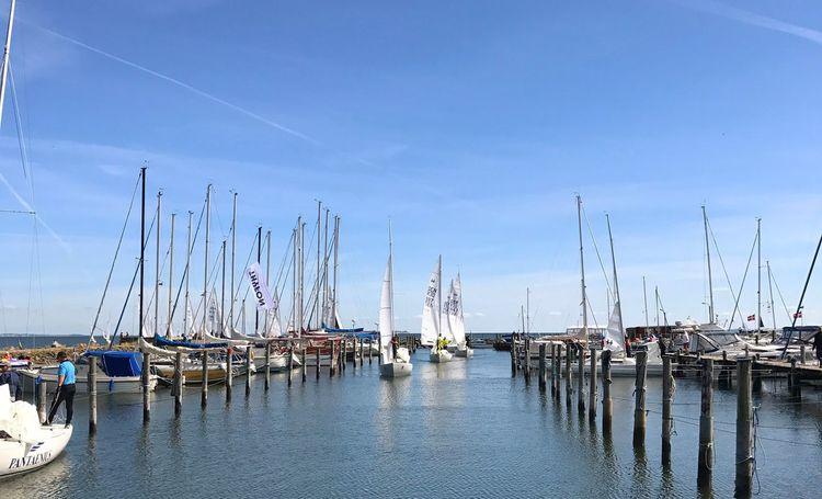 Regatta in Amtoft, all 34 boats coming in. Marina Regatta Amtoft Limfjorden Denmark Tadaa Community EyeEm
