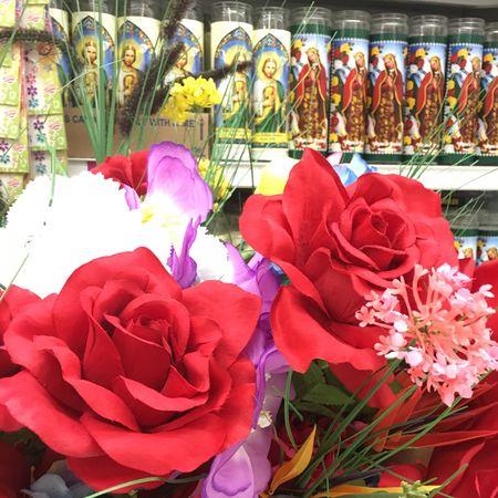 Fake Flowers Flowers Jesus Candle Catholic Saint Prayer Candles Shopping ♡ Store Religion