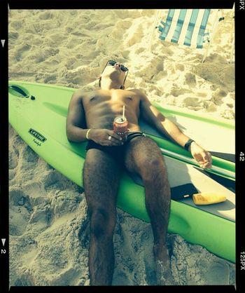 Relaxing Enjoying The Sun Beach Surfing Summer
