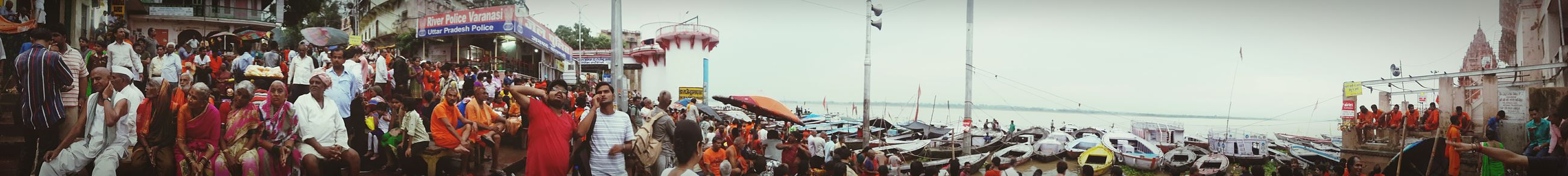 Panaroma Benaras Saavn Monsoons Crowded Ghat Instapic Instacool Instamoment First Eyeem Photo