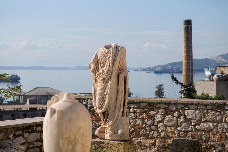 Elefsina Ancient Greek Chimney Industry Statue Vase Archeological Archeologymuseum Art Marble Museum Sea Seascape Street Streetphotography