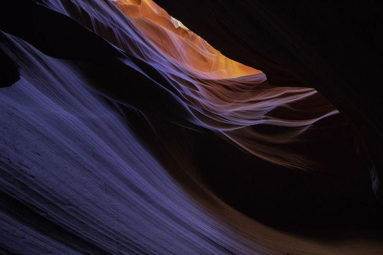 Full frame shot of antelope canyon