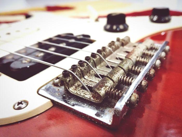 Guitar Pacifica Vintage Guitar Rustic Beauty Wood Bridge
