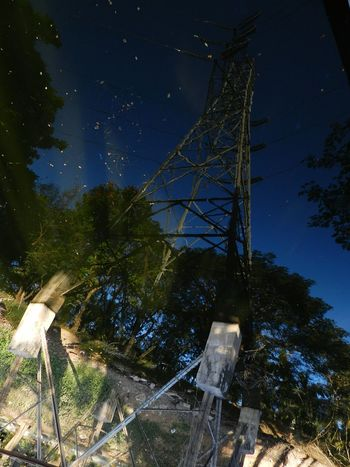 Transmission Line Tower Back Waters Reflection Leaves🌿 The Great Outdoors - 2016 EyeEm Awards