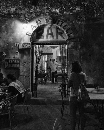 Bar Vitelli The Godfather  Micheal & Apollonia Savoca, Sicily Italy Film Location Nsss Travel Destinations Tranquility Sicily Black And White Photography B&w