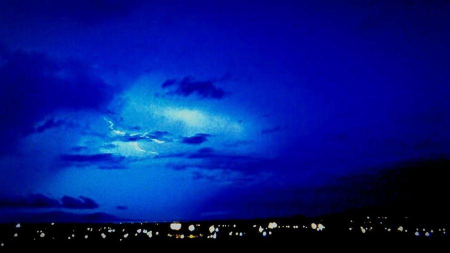 Cities At Night Townsville Townsville, Queensland. Lightning Lightningbolt Lightning Behind Clouds