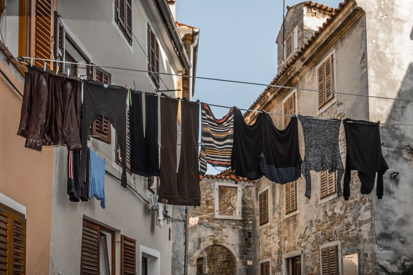 Casual Clothing Clean Clothes Drying Exterior Eye4photography  Fresh Historic House Housework Izola Laundry Laundry Day Narrow Street Old Buildings Slovenia Street Urban Window