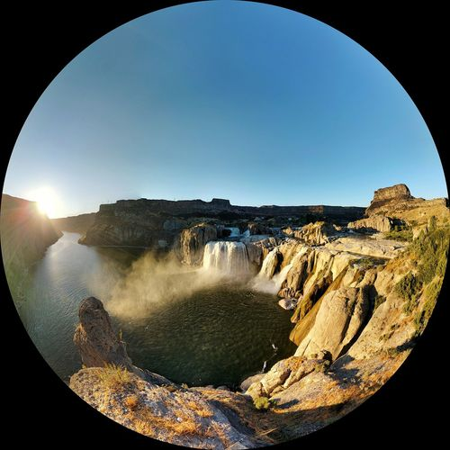 August 2017, Shoshone Falls, Idaho No People Day Fish-eye Lens Outdoors Nature Sky Road Trip Vanlife Vacations Cool Places Waterfall Idaho Sunsetlover Sunsets Mist EyeEmNewHere