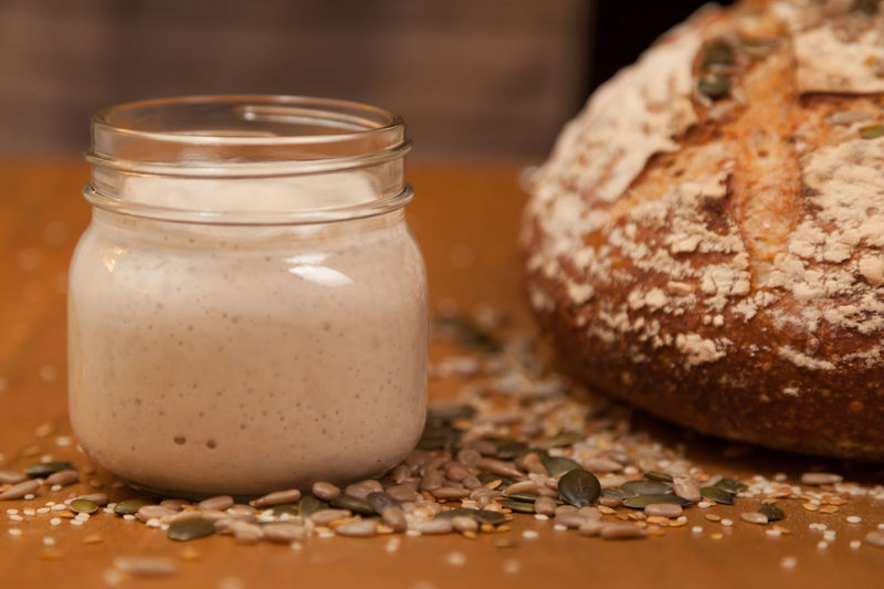 sourdough seeds Seeds Baking Breakfast Brown Bread Close-up Day Fermentation Food Food And Drink Freshness Glass Jar Healthy Eating Home Baking Indoors  No People Nutrition Ready-to-eat Sourdough Sourdough Bread Sourdough Starter Starter Table