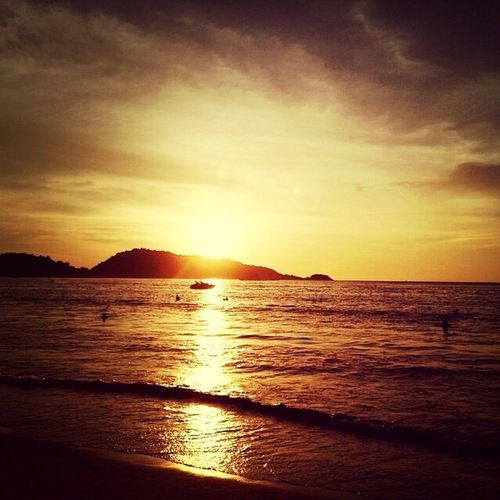 Sunset at Patong Beach in Phuket... Bagpacking trip in Thailand 2013. ♡ Sunset Patong Beach Phuket Bagpacking Trip