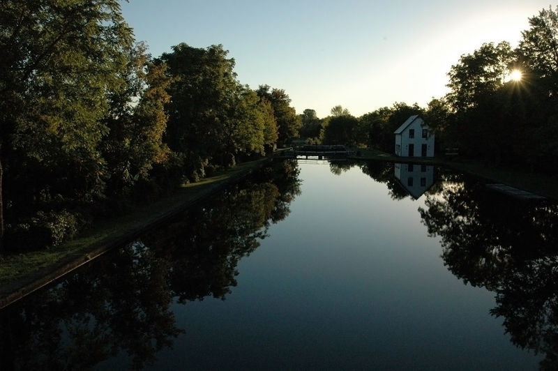 Architecture Beautiful Beauty In Nature Day Lake Merrickville Nature No People Outdoors Reflection Reflection Lake Scenics Sky Sunset Tranquility Tree Water