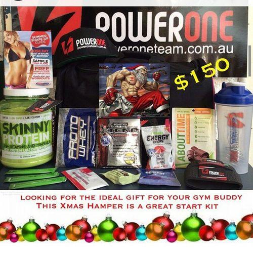 Great xmas gift ideas Go to Www.poweroneteam.com.au to order! Powerone Xmas Hamper Protein supplements gift gym fitness