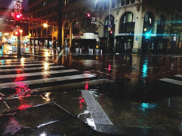 Raining DTLA Urban Geometry Aynphotography