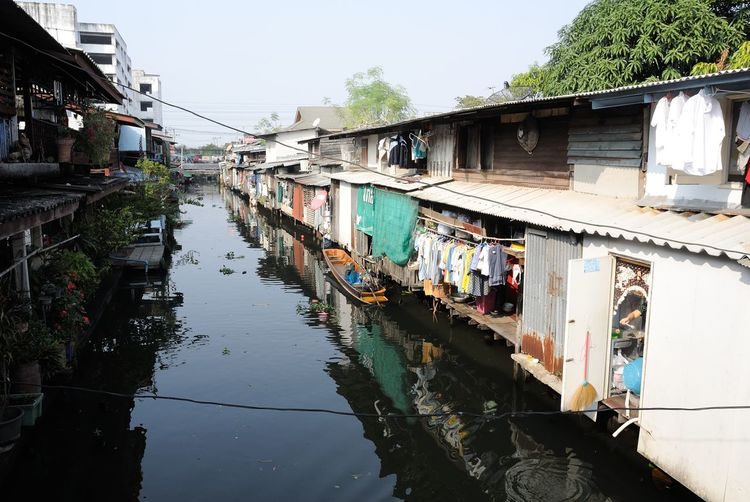 Architecture Bridge - Man Made Structure Building Exterior Built Structure Canal City Connection Day Diminishing Perspective Footbridge House Reflection Residential Building Residential Structure River Sky Town Transportation Water Waterfront