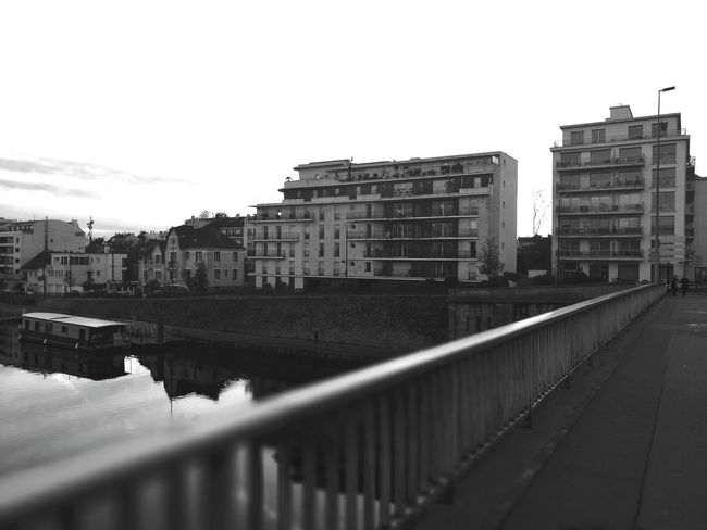 On the bridge over the erdre river in Nantes, France Building Exterior Architecture Built Structure City Outdoors Cityscape Urban Skyline Nature Water Bnwmood Bnw_collection Bnw_captures Nantes Calm