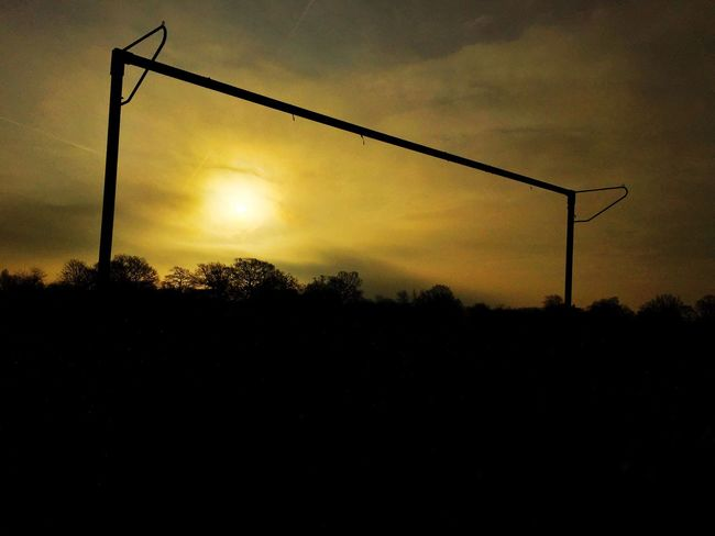 Football goal at sunrise Sunrise Sun Football Sport Park First Eyeem Photo