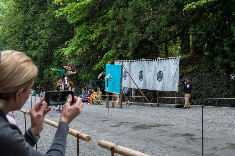 Yabusame. Toshogu shrine, Nikko Archery Arrow Horse Japan Nikko Toshogu Shrine Yabusame Yumi