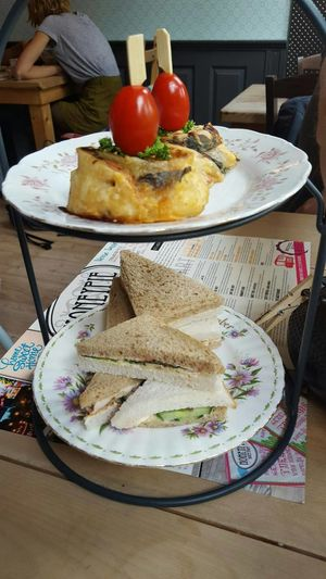 Quiche High Tea Sandwiches Food And Drink Happy Day Hooland Lekker
