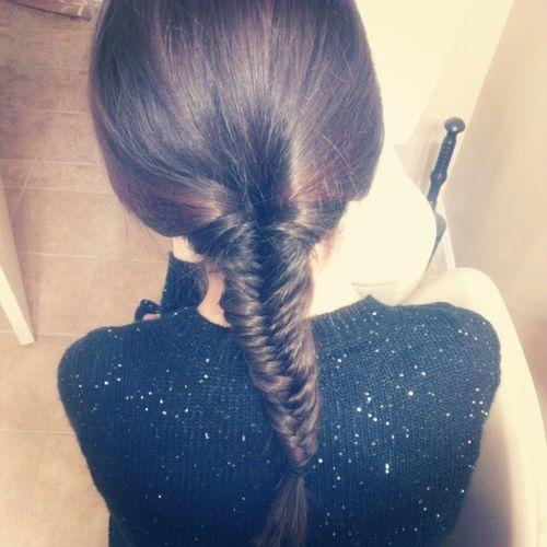 Thanks to YouTube I now know how to fishtale braid :) FishTaleBraid  Youtube Sister Loveit
