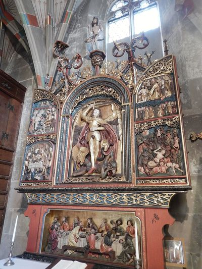 art2 Old Germany Windows Kirche Schwäbisch Hall St. Michael Church Religion Religious Art Indoors  Religion No People Architecture Place Of Worship Day Built Structure Travel Destinations