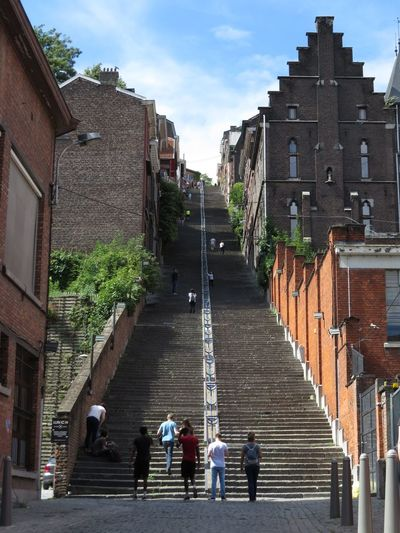 Belgium Breathing Space Challenge Accepted Liège Stairs Stairway Steps Architecture Building Exterior Built Structure Challenge Challenging City Dare Downstairs Montagne De Bueren Mountain Stair Staircase Stairway To Heaven Stairways Step Steps And Staircases Uphill Upstairs