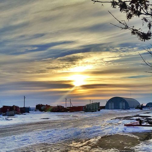TBT  Was searching for sinrises in my library and found some pic I took this winter, hope you will like it @spectacular_sky From our base in Alibekmola Oil field, Aktobe, Kazakhstan, shot on Samsungnote3 Spectacularsky Samsungnote3 nikon sun sunrise clouds nature Aktobe Kazakhstan Актобе Казахстан рассвет Ляпота