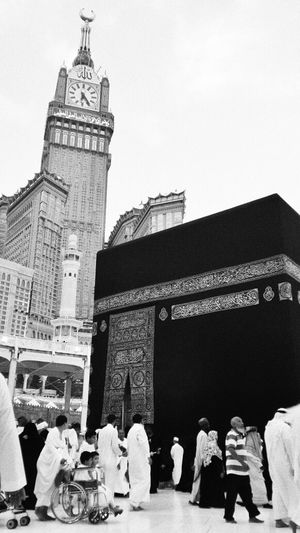 Makkah Al Mukaramah Alkaabah Black And White My Love