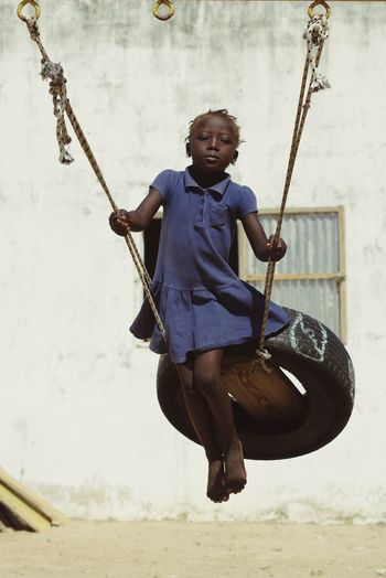 Happy day ! Senegal Africa Swinging School Childhood Playing Happiness EyeEm Ready