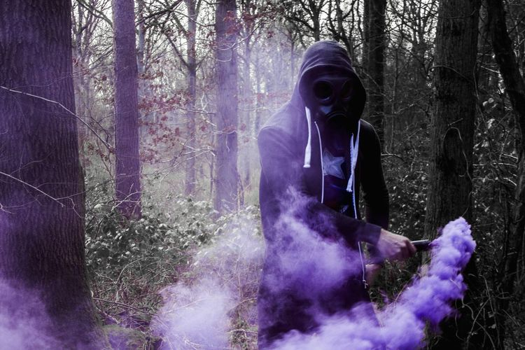 I did a small photoshoot a while back using smoke granades a friend had ordered online, with pretty interesting effects! Smoke Smoke Granade Woods WoodLand Colourful Purple Creepy Photography Enolagaye