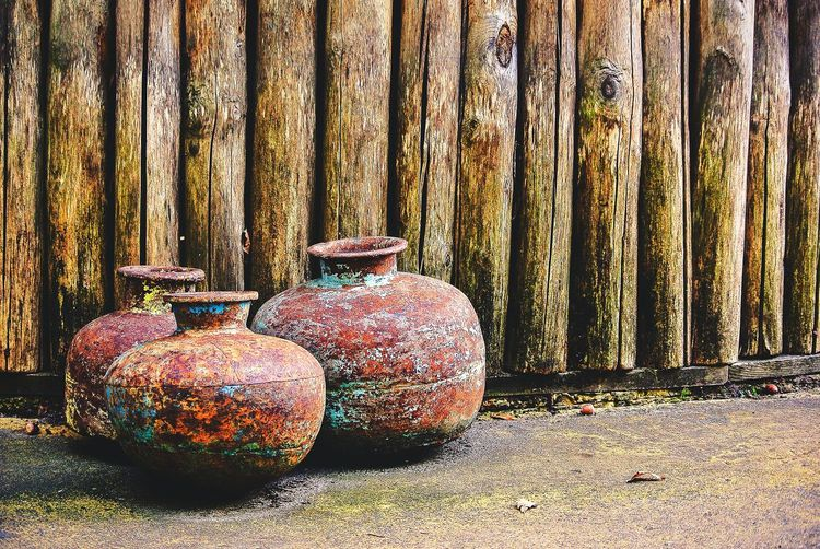 Pot Non-urban Scene Man Made Object Scenics No People Old Objects Weathered Old Stuff Pots History Material Object Day Rusty Decorative Urn Bad Condition Peeling Off Ruined Civilization Historic Historic Building Run-down Abandoned Worn Out Pottery Old Ruin Deterioration Art And Craft Craft