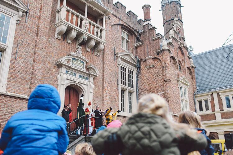 Architecture Building Exterior City Day Festival Festival Season Grote Markt Men Netherlands Outdoors People Place Of Worship Real People Saint Nicholas Sint-Nicolaas Sinterklaas Zwarte Piet