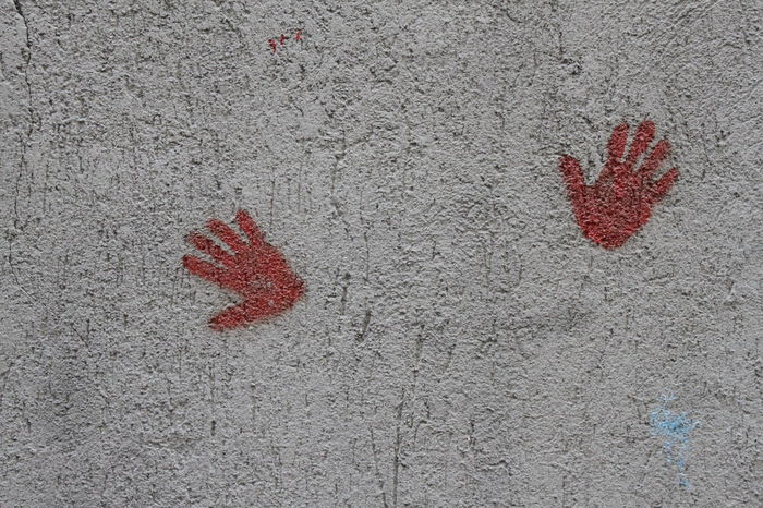 Architecture Art On The Wall Backrounds Close-up Cover Fingerprint Hand On The Wall Handart Handprints Handprints On Wall Happiness No People Outdoors Red Hand Red Handprint Streetart Textured  Togehter Togetherness Urban Art Wall Wall Painting Wallart Wallart, Art, Culture, Mycity, Streetart, Graffiti