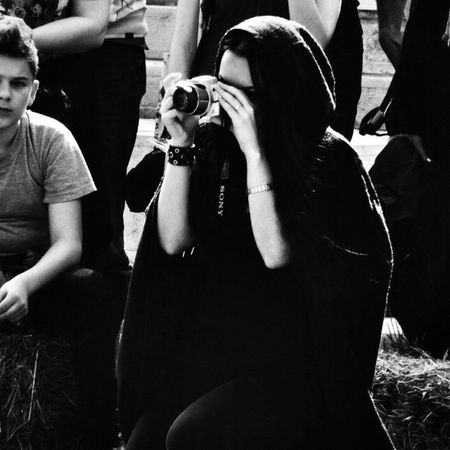 Behind the camera series - the scythe / Bnw Bnw_sniper Bnw_photografare Monochrome Monotone Monochromatic Bnw_top Insta_noir Bw_romania Bnw_life Street Girl Scythe Viataincluj Photosofphotography