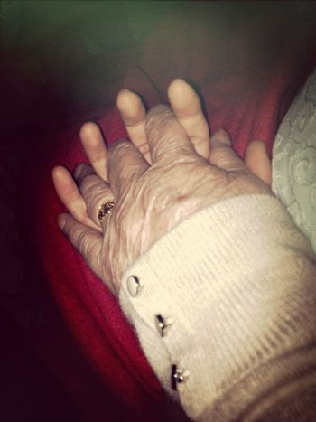 Somethings you just can't let go, it's been 14 years and I've finally held her hand Grandma