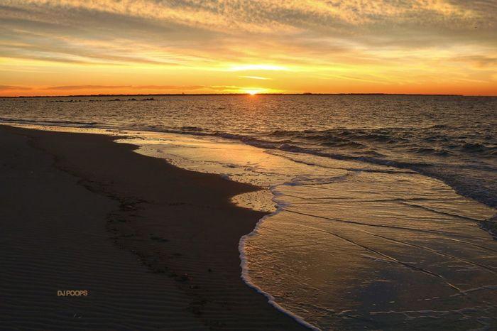 Beach Sun Tranquility Beauty In Nature Water Sunrise On The Beach Coney Island Beach