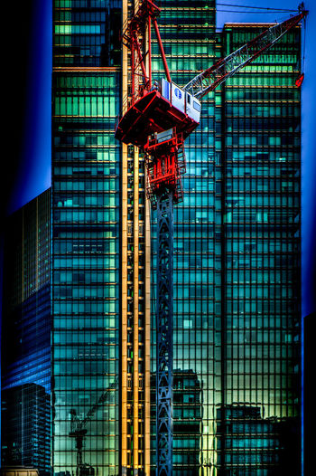 Distorted Construction Red Architecture Blue Building Building Exterior Built Structure City Clane Day Distortion Glass - Material Hdr Edit Low Angle View Modern No People Office Office Building Exterior Outdoors Red Color Reflection Skyscraper Tall - High Tower Travel Destinations Urban