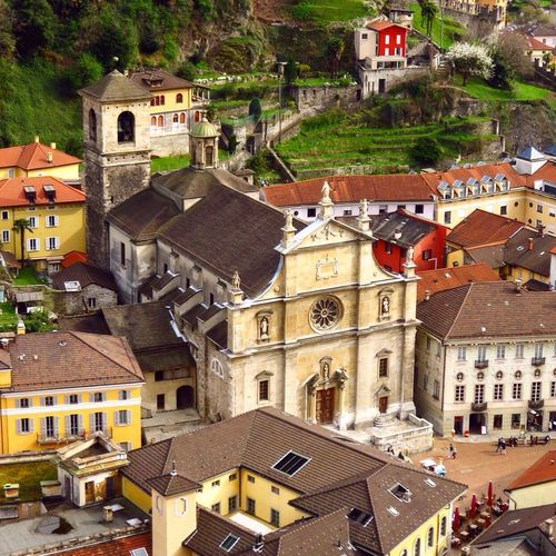 Birds Eye View Bird's Eye View Taking Photos Religious Architecture Switzerland Swiss Suisse  Schweiz Bellinzona Colleggiata Collegiata TICINO ♡ Ticino Tessin Colorful City Colorful