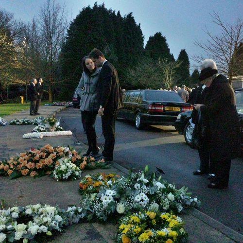 Sad day. Crematorium In Memoriam Mourning