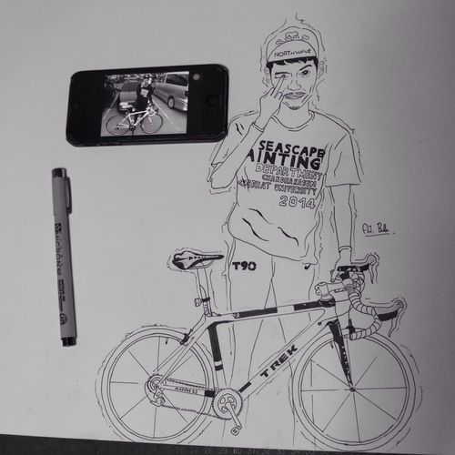 ME Drawing Sketch Humanride Monochrome