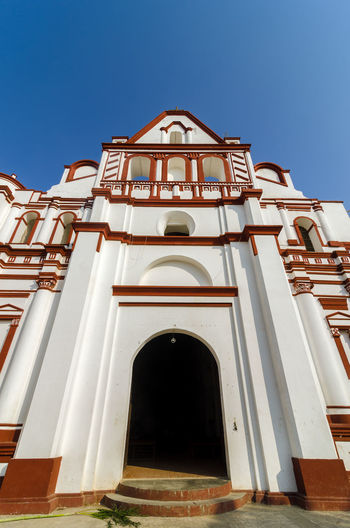 Low Angle View Of Church Against Clear Sky