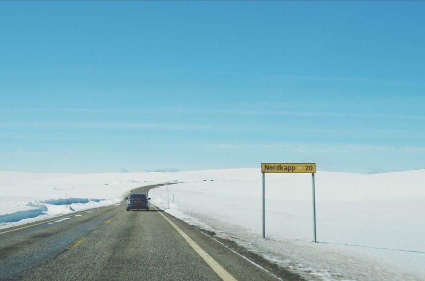 Nordkapp Auf Zum Nordkap Cape2cape Winter Wonderland Vanishing Point