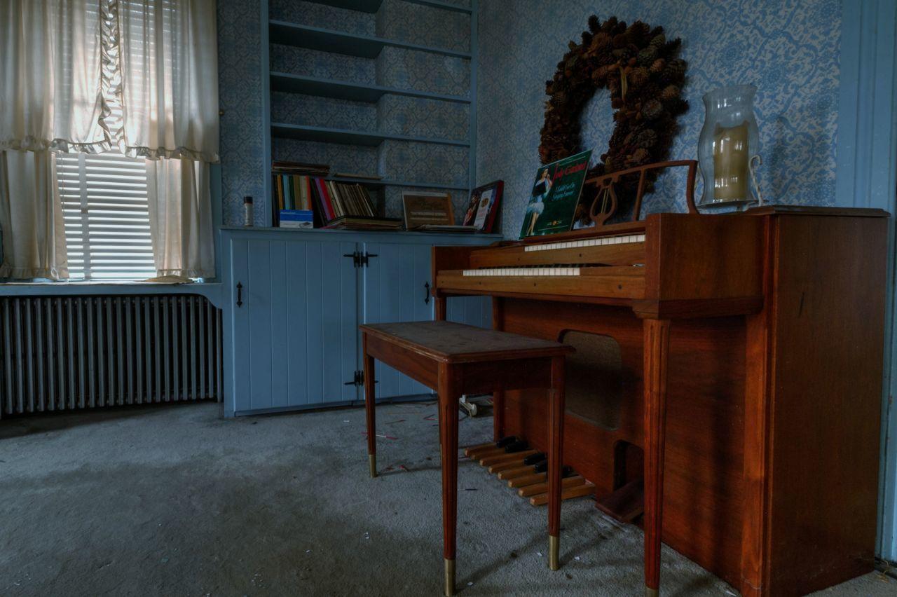 Old Piano At Home