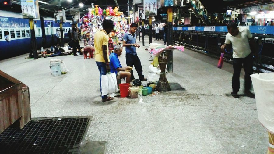 Station Vendor Old Man Selling Cucumber At Station Overnight Sucesses Hardwork