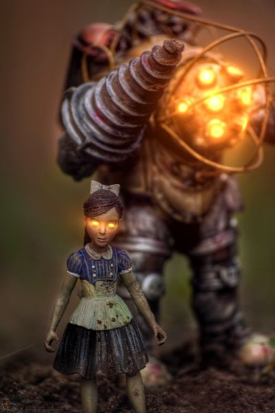 Let's find some angels! Bioshock Toy Toys Toycommunity Toyphotography Toy Photography Nikon Nikonphotography Outdoors Outdoor Photography Dark Scary Videogames