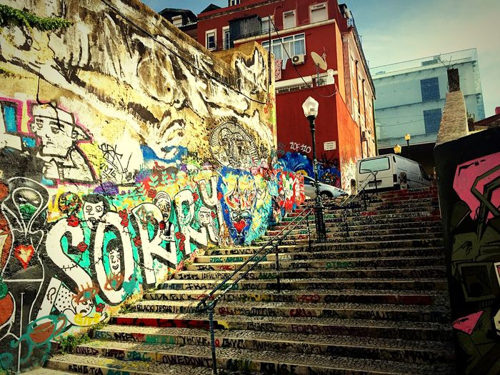 The Changing City Street Photography City Stairs  Stairs_collection Street Art Graphite Art in Portugal