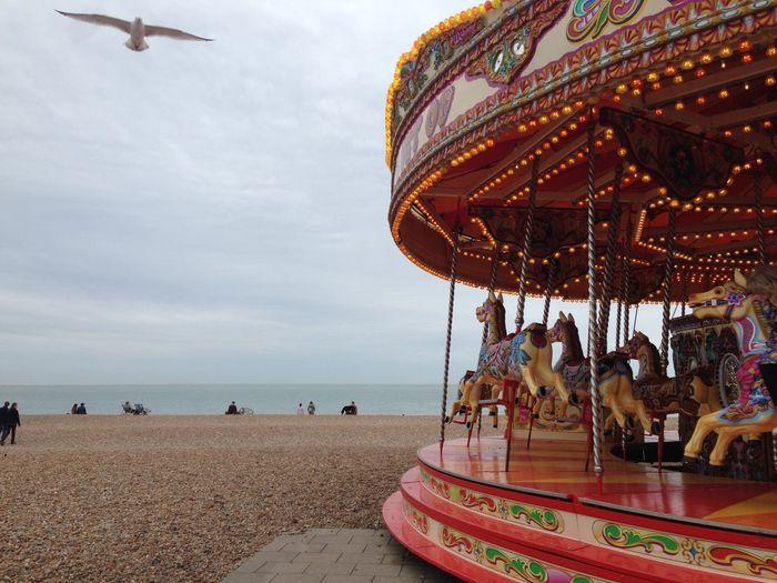 Carousel At Beach