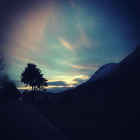 Austria Tyrol Heaven Freedom Think Love Sun Happy Photo EyeEm Tree Dark Colors Blue Yellow Evening Music Fun Outgoing