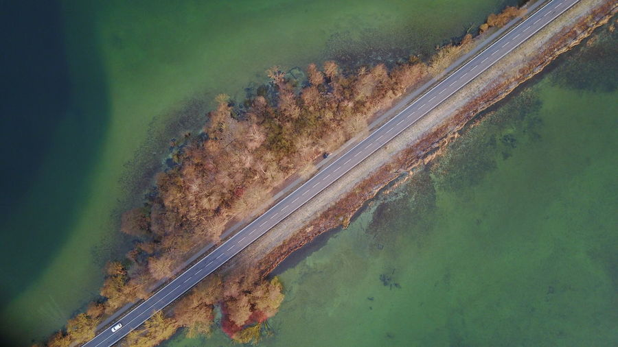 Aerial View Day Dji High Angle View Landscape Mavic Pro Mode Of Transport Nature No People Outdoors Paulsdamm Road Schwerin Sky Transportation Water