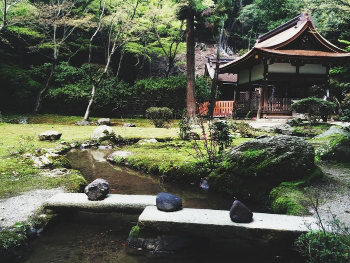 Shrine Kyoto Japan Stone Bridge