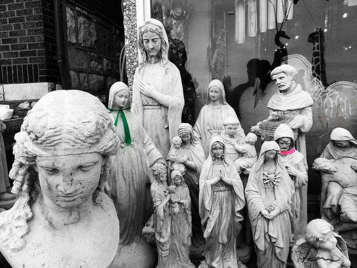All Dem Saints Happy Easter! Statue Religious  Sculpture